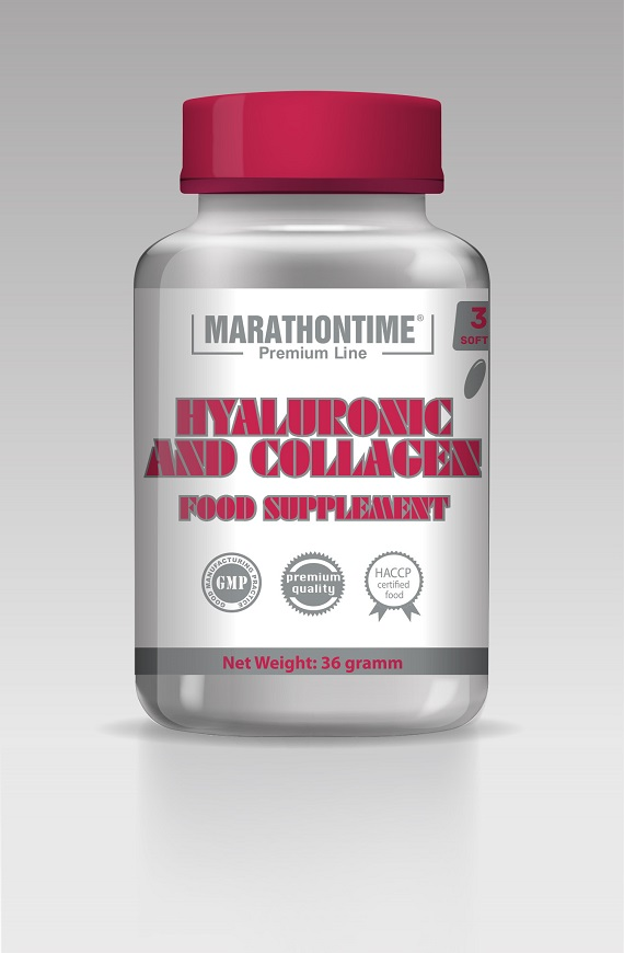 MARATHONTIME Kyselina Hyaluronová + Kolagén 30 kps