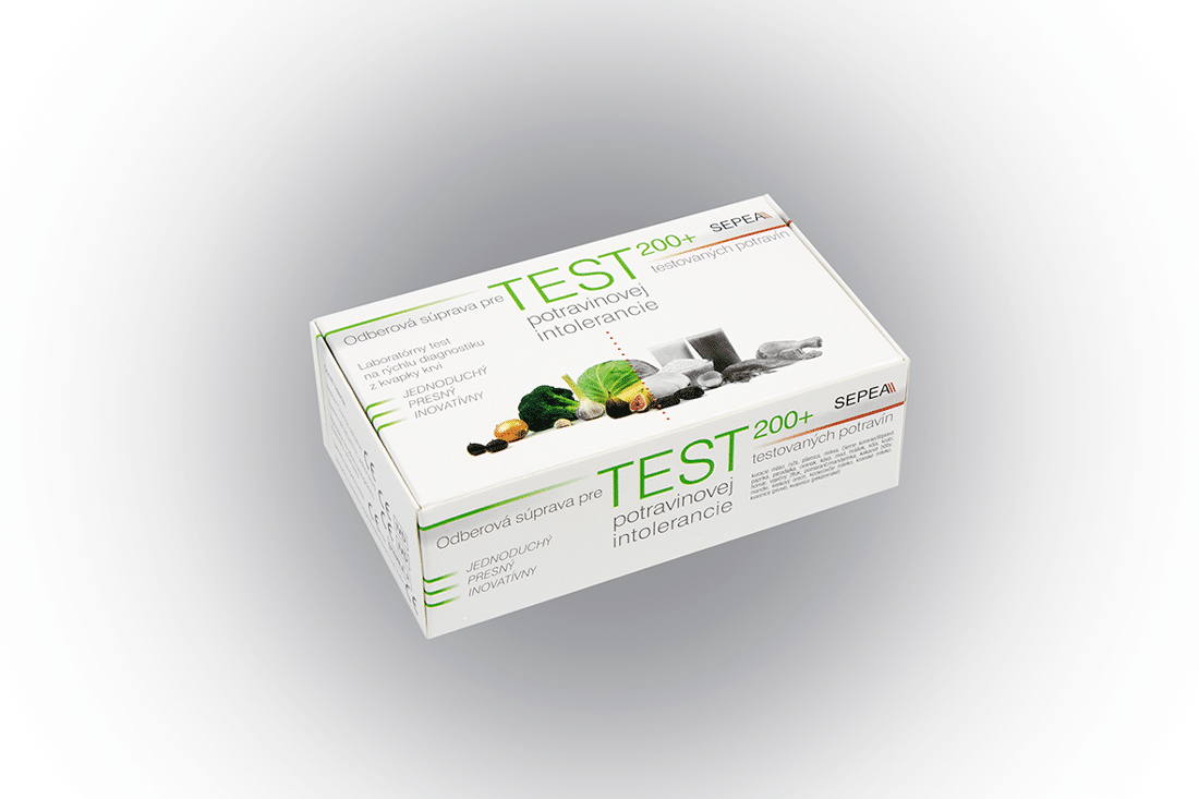SEPEA ELISA SCREEN TEST 200+Laboratórny test potravinovej intolerancie 1 set